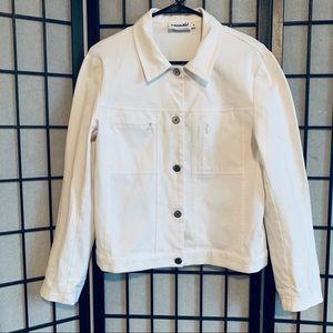 Tribal brand white denim jacket sz 8